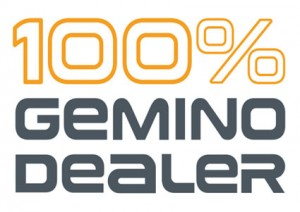 100pct Gemino Dealer logo voor Sunrise Medical rollators