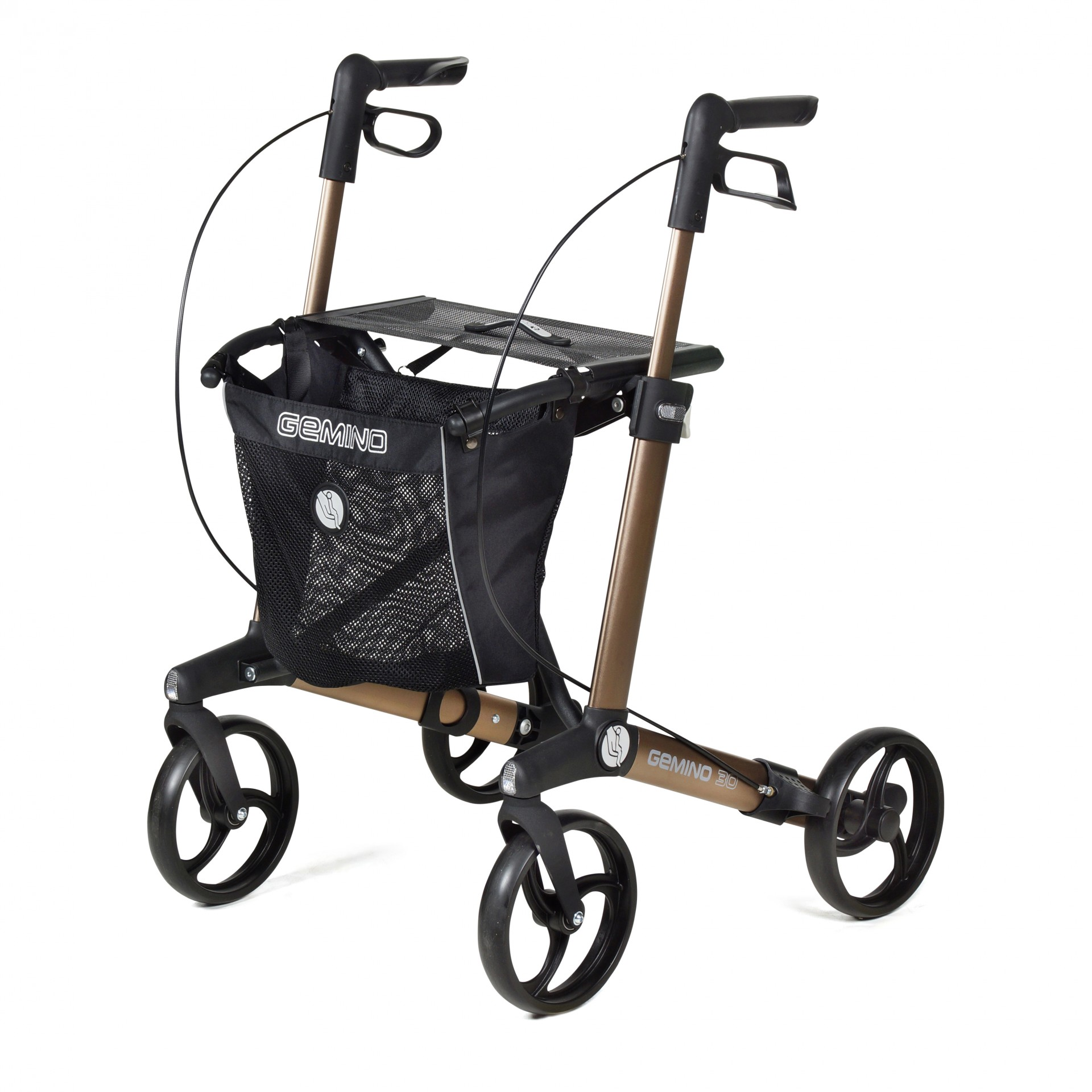 Gemino 30 rollator van Sunrise Medical in de kleur bronze