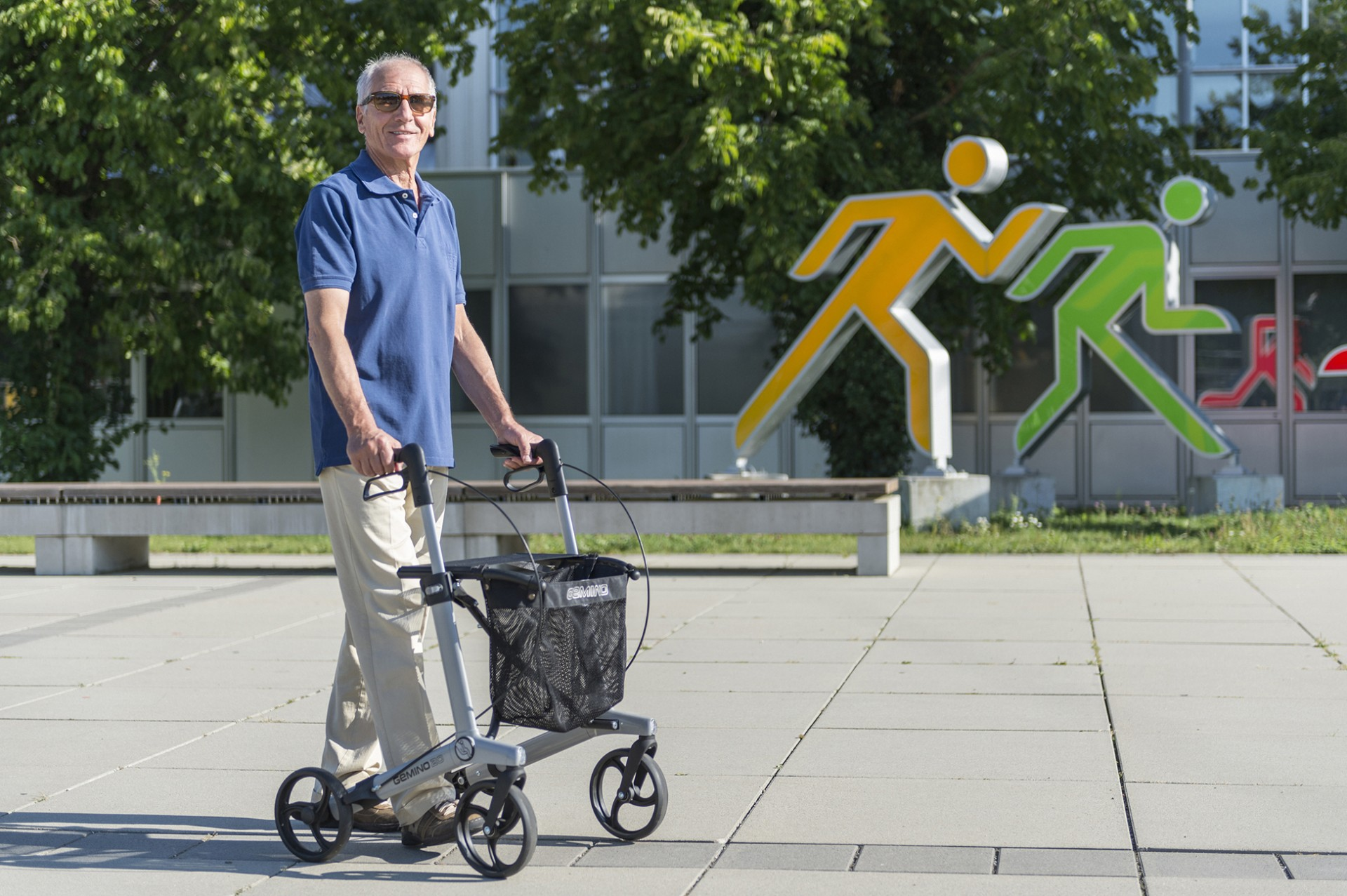 Gemino 20 rollator in zilver van Sunrise Medical