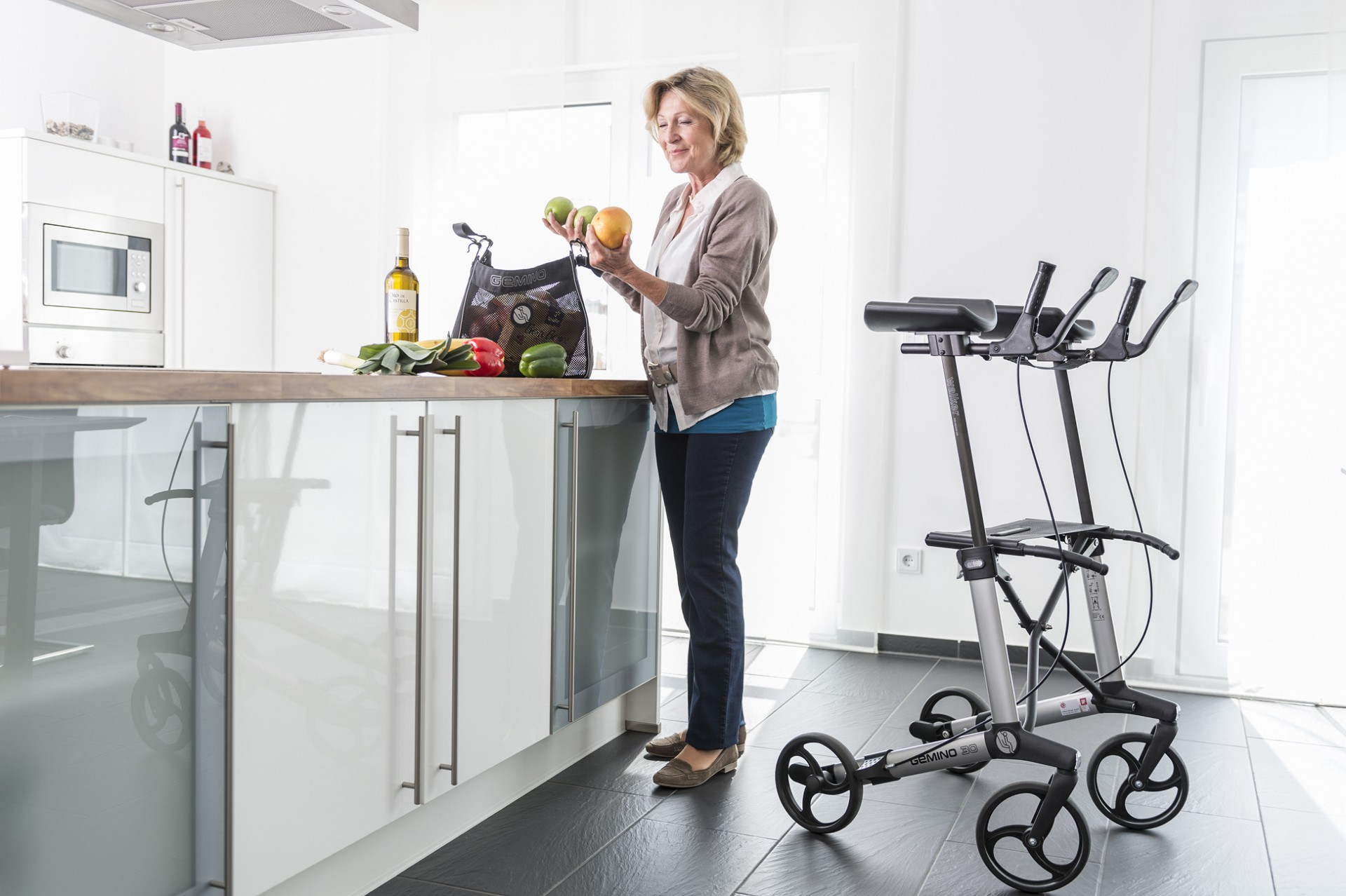 Sunrise Medical Gemino 30 Walker rollator met tas