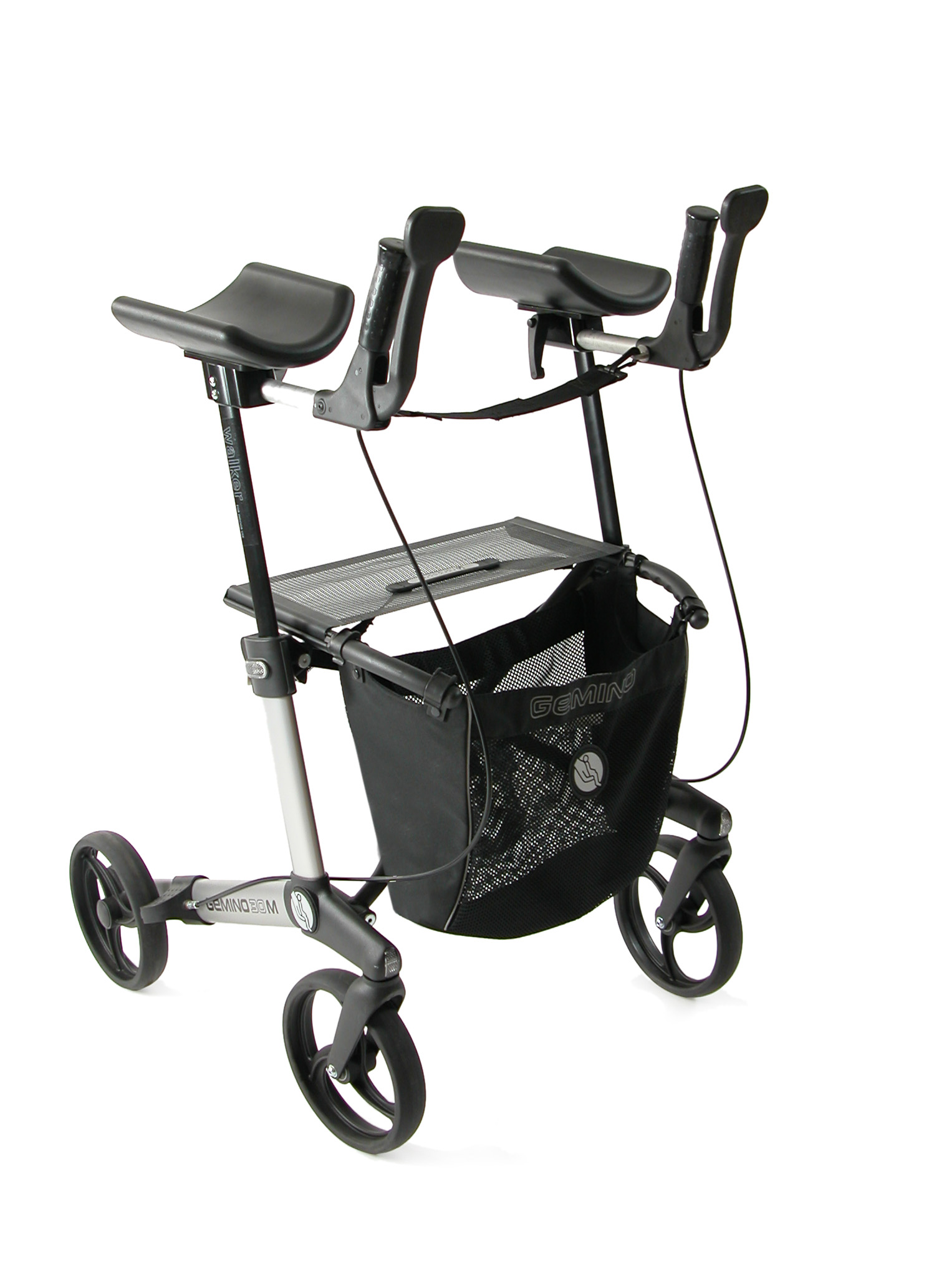 Gemino 30 Walker rollator van Sunrise Medical in zilver