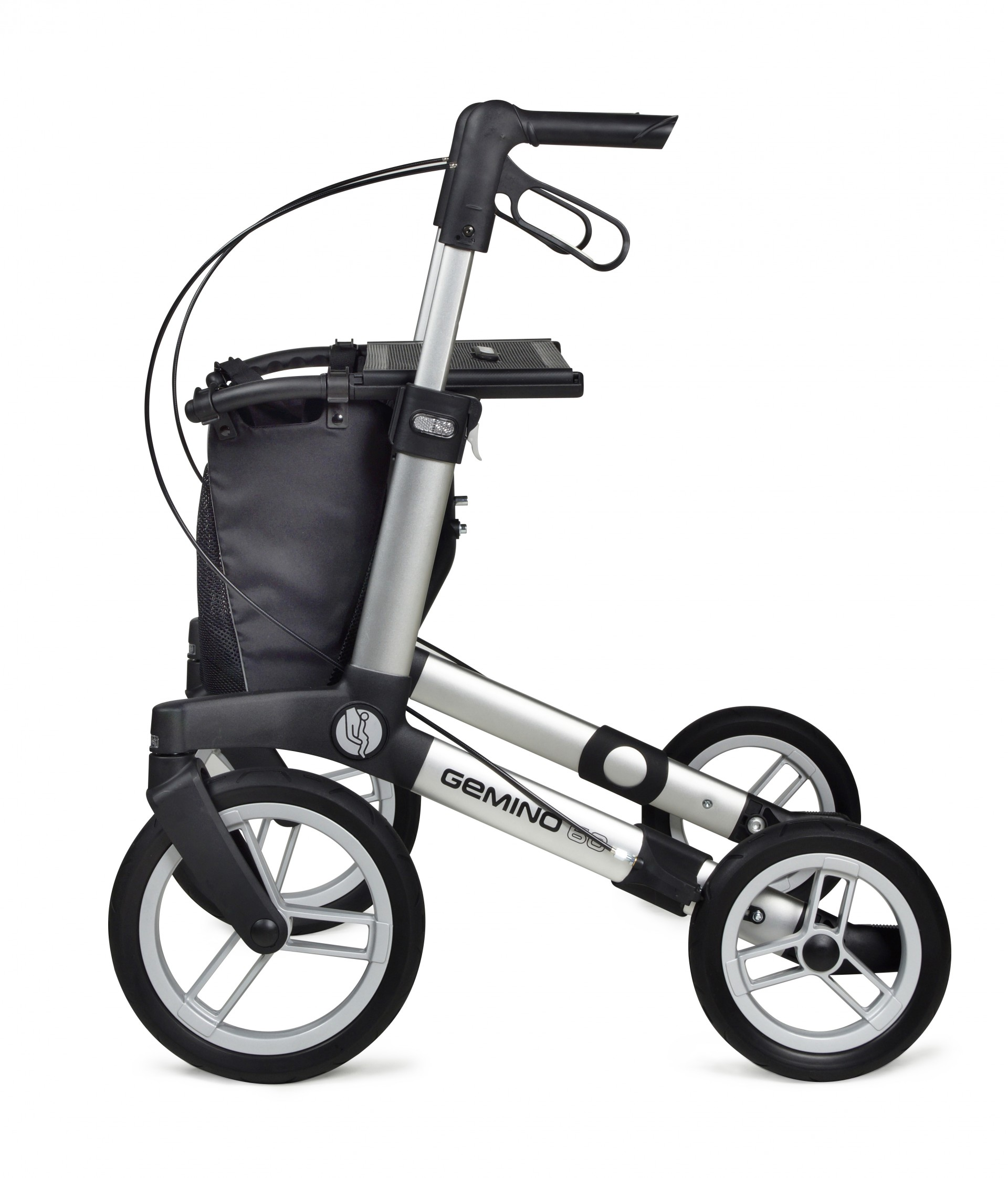 Zijaanzicht van Gemino 60 rollator van Sunrise Medical