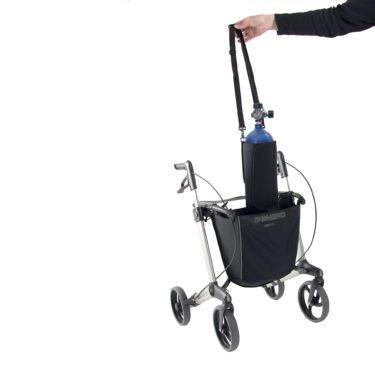 Gemino rollator van Sunrise Medical met mand voor zuurstofhouder