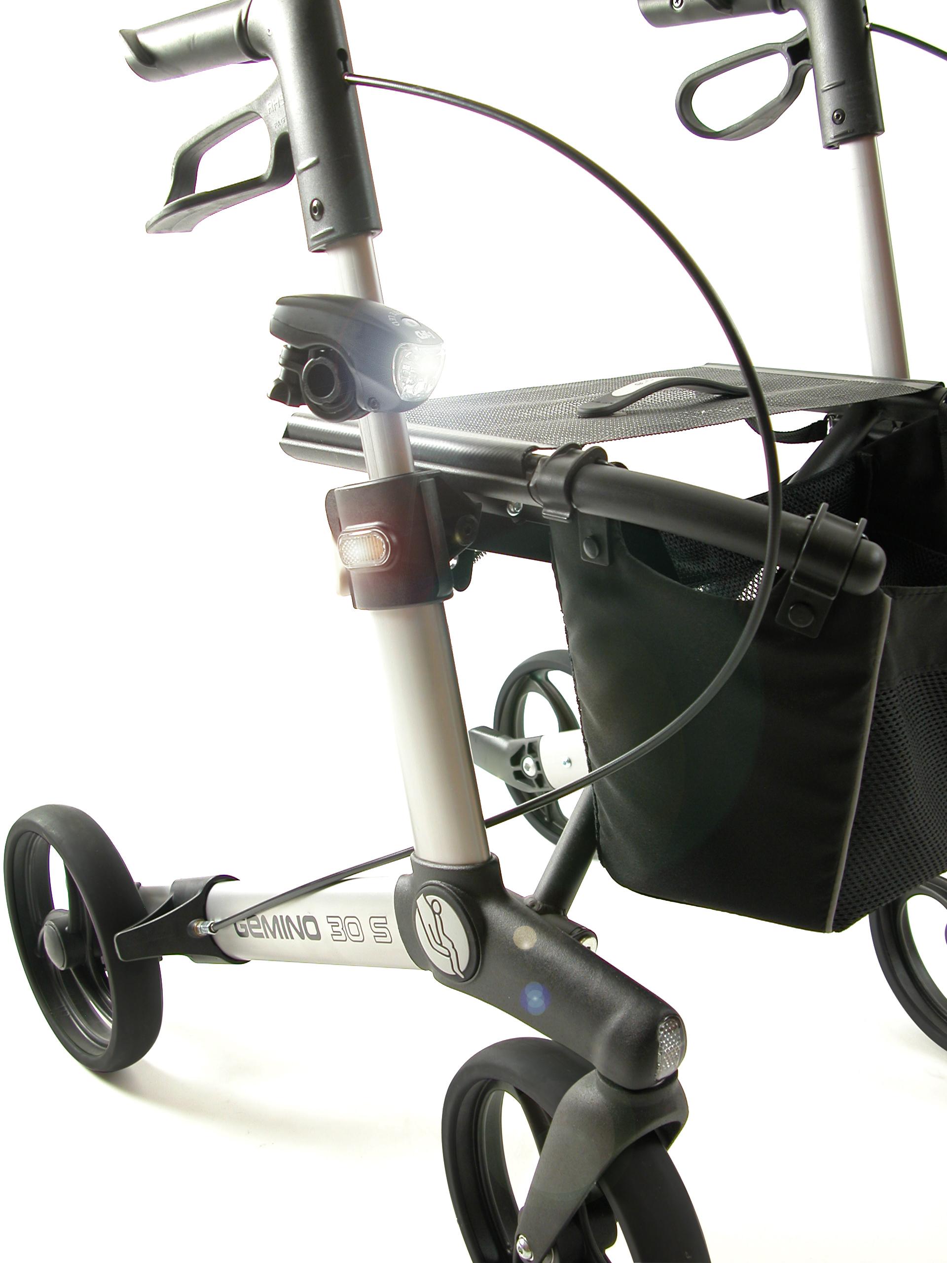 Verlichting voor op Gemino rollator van Sunrise Medical
