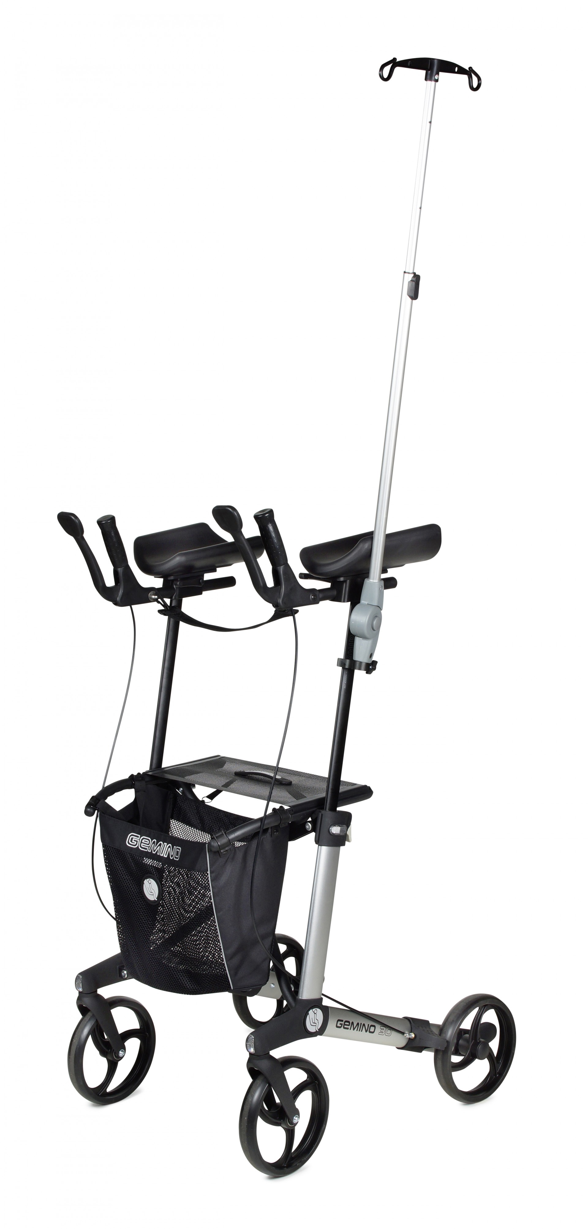 Infuushouder Gemino 30 Walker rollator van Sunrise Medical