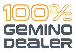 100% Gemino dealer sticker