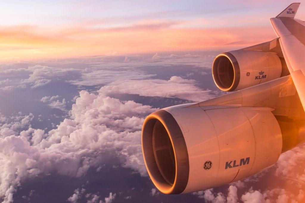 Rollator in het vliegtuig